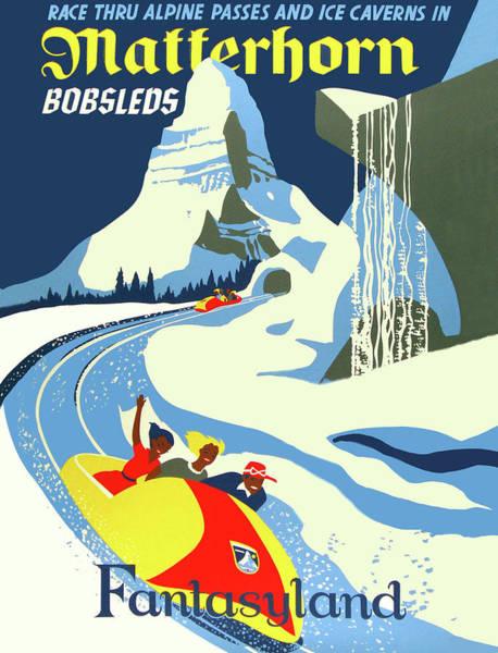 Wall Art - Painting - Matterhorn Bob Race by Long Shot