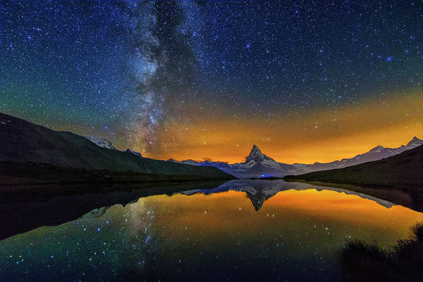 Photograph - Matterhorn By Night by Ralf Rohner
