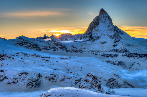 Photograph - Matterhorn Cervino Sunset by Brenda Jacobs