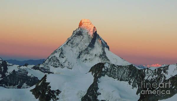 Montain Photograph - Matterhorn Dawn by DiFigiano Photography