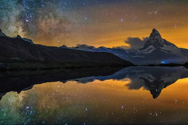 Matterhorn Milky Way Reflection Art Print