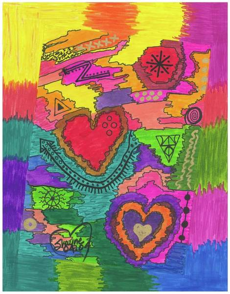Drawing - Matters Of The Heart by Susan Schanerman