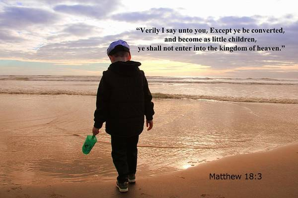 Bible Quotes Photograph - Matthew Eighteen Three by Aaron Berg