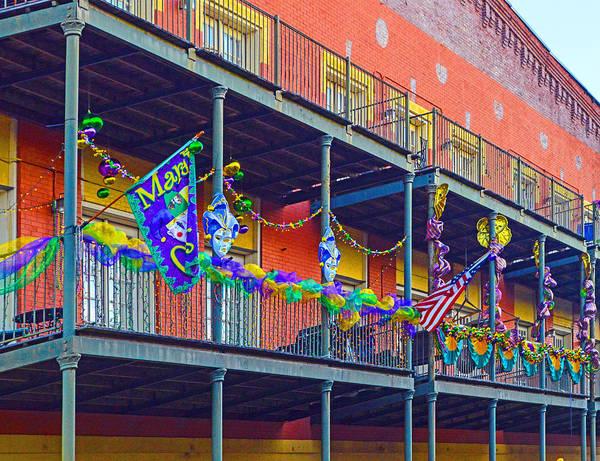 Photograph - Mattress Factory Mardi Gras Railing In Mobile Alabama by Michael Thomas