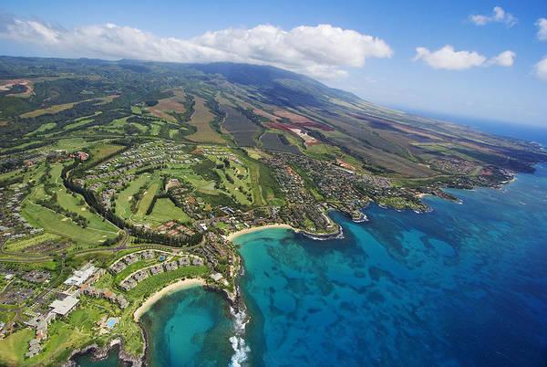 Kapalua Photograph - Maui Aerial Of Kapalua by Ron Dahlquist - Printscapes