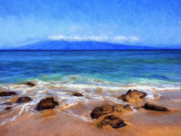 Painting - Maui Beach And View Of Lanai by Dominic Piperata