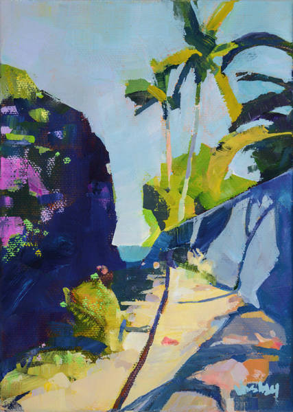 Wall Art - Painting - Maui Beach Path by Stacy Vosberg