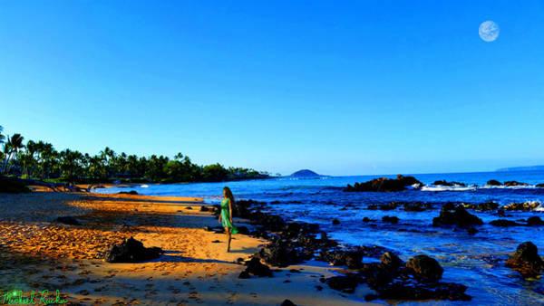 Ocean Sunrise Wall Art - Photograph - Maui Sunrise On The Beach by Michael Rucker