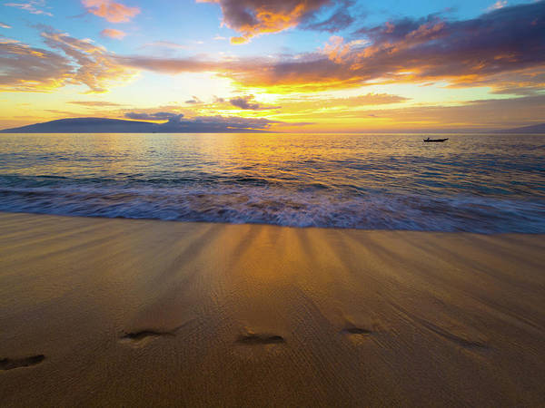 Photograph - Maui Sunset by Christopher Johnson