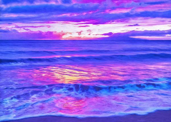 Painting - Maui Sunset Looking Toward Lanai by Dominic Piperata