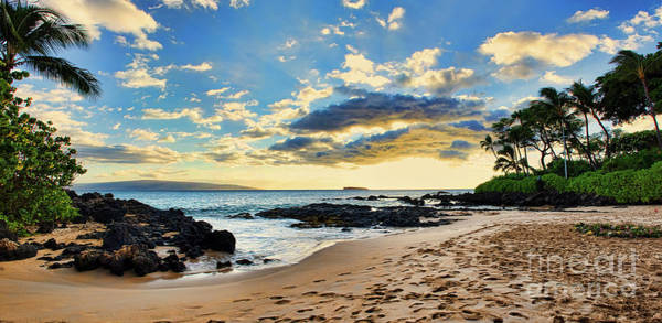 Photograph - Maui Sunset Panorama by Eddie Yerkish