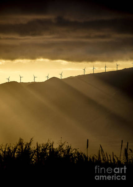 Wind Farm Photograph - Maui Wind Farm Sunset by Dustin K Ryan