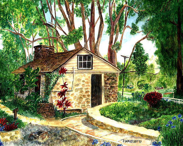 Painting - Maui Winery by Eric Samuelson