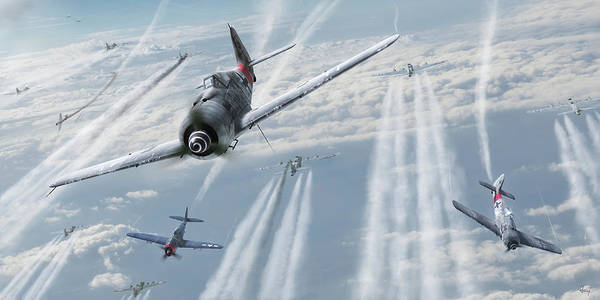 Jug Digital Art - Mauling Eagles by Hendrik 'guddi' AviationArt