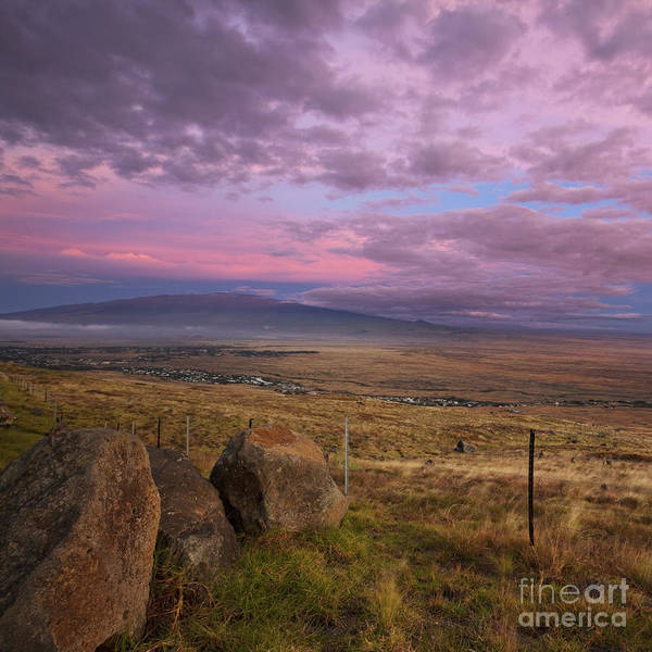 Photograph - Mauna Kea And Hualalai Sunset by Charmian Vistaunet