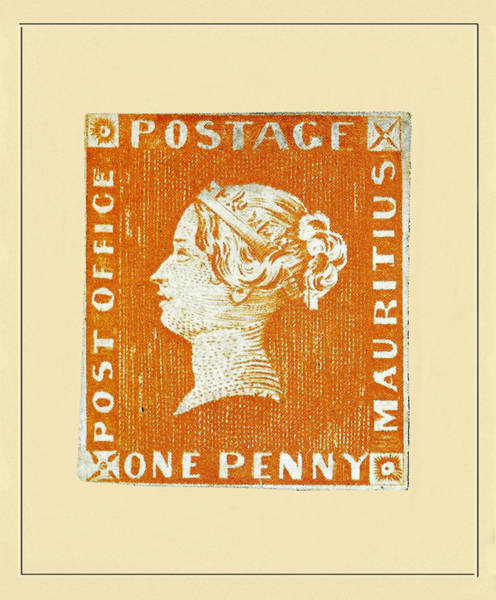 Photograph - Mauritius One Penny 1847 by Andrew Fare