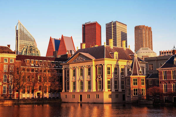 Photograph - Mauritshuis At Golden Hour - The Hague by Barry O Carroll