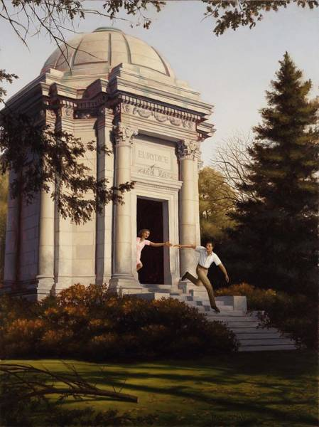 Painting - Mausoleum by Harry Steen