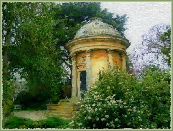 Wall Art - Painting - Mausoleum In London by Mindy Newman