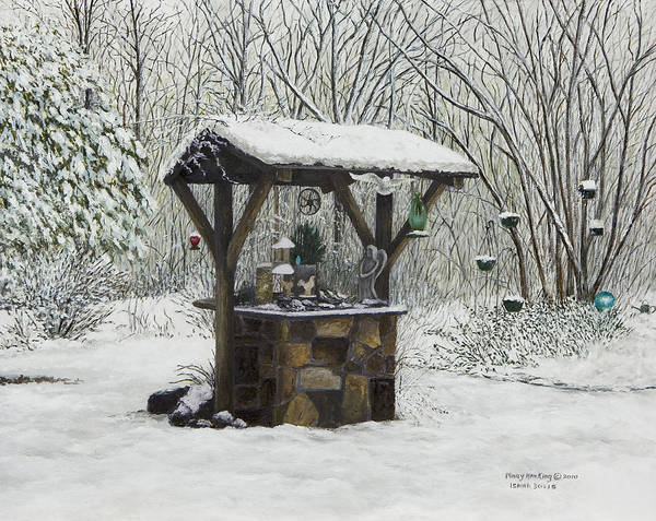 Wishing Well Painting - Mavis' Well by Mary Ann King