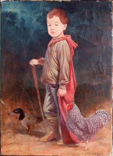 Hans Droog Wall Art - Painting - Max And His Pets by Hans Droog