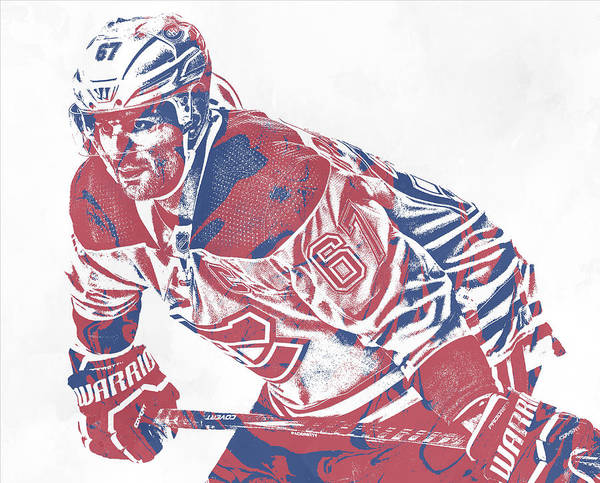 Wall Art - Mixed Media - Max Pacioretty Montreal Canadiens Pixel Art 1 by Joe Hamilton