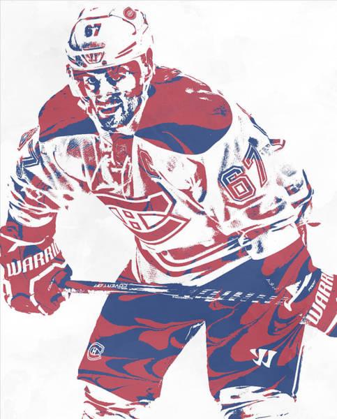 Wall Art - Mixed Media - Max Pacioretty Montreal Canadiens Pixel Art 3 by Joe Hamilton