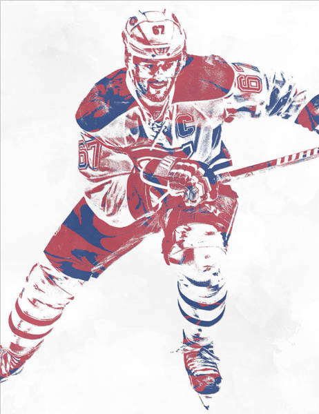 Wall Art - Mixed Media - Max Pacioretty Montreal Canadiens Pixel Art 5 by Joe Hamilton
