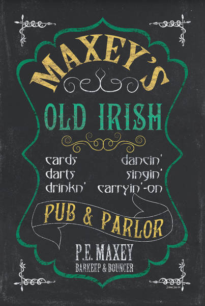 Wall Art - Mixed Media - Maxey's Old Irish Pub by Debbie DeWitt