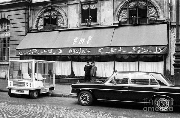 Storefront Photograph - Maxim's Restaurant In Paris, 1971 by French School