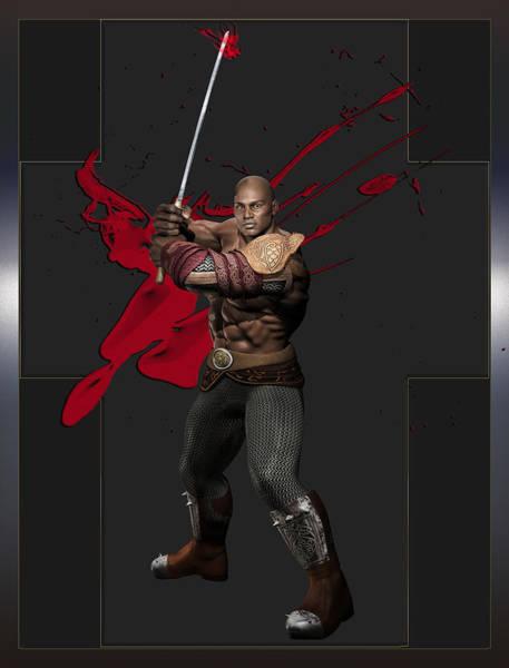 Digital Art - Maximus The Vampire Slayer 02 by Carlos Diaz