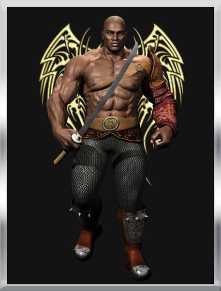 Digital Art - Maximus The Vampire Slayer 01 by Carlos Diaz