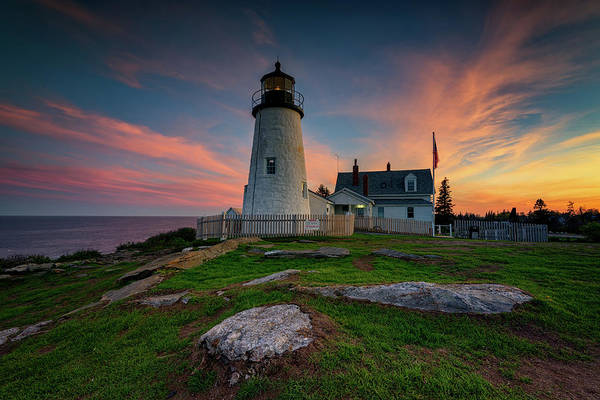 Photograph - May Evening At Pemaquid Point Lighthouse by Rick Berk