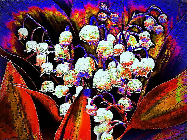 Lilies Of The Valley Mixed Media - May-lilies by Alexey Bazhan