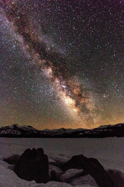 Wall Art - Photograph - May Milky Way Over Frozen Caples Lake by Mike Herron