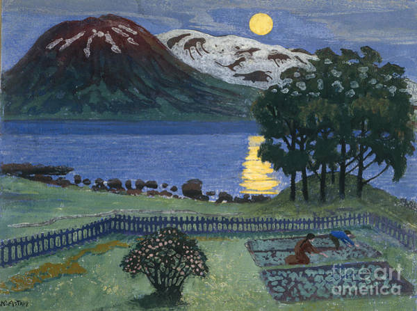 Nikolai Astrup Painting - May Moon by Nikolai Astrup