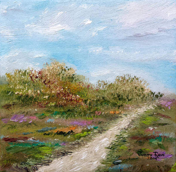 Wishing Well Painting - May The Road Rise Up To Meet You by Judith Rhue