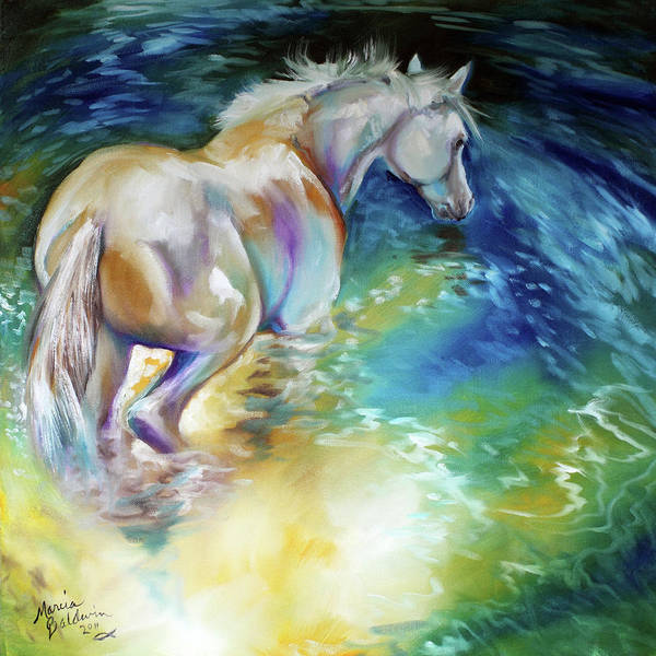 Painting - May Waterbaby Equine by Marcia Baldwin