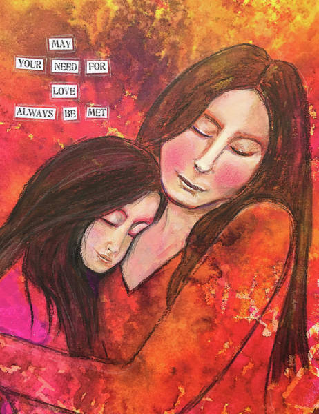Child Mixed Media - May Your Need For Love by Lynn Colwell