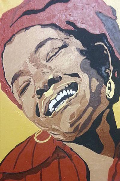 Painting - Maya Angelou by Rachel Natalie Rawlins