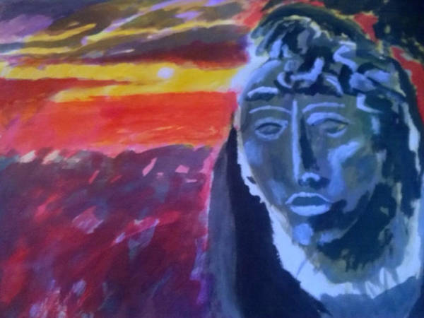 Painting - Maya Sunset by Enrico Garff