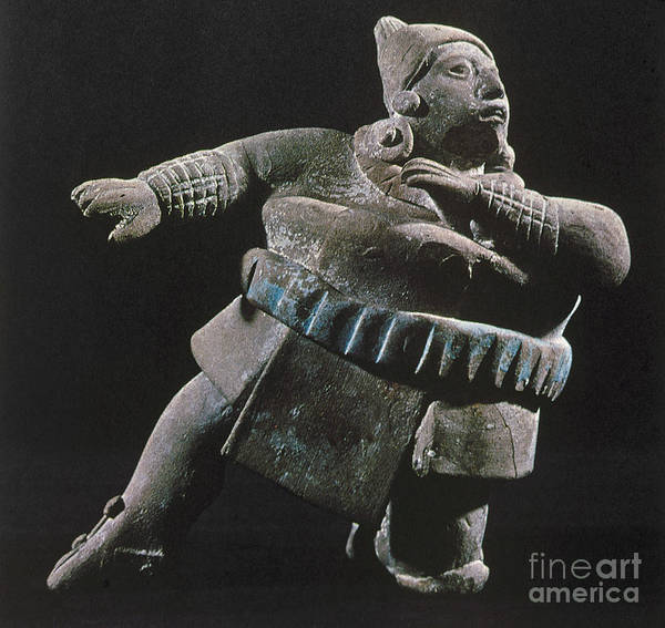 Photograph - Mayan Athlete, 700-900 A.d by Granger