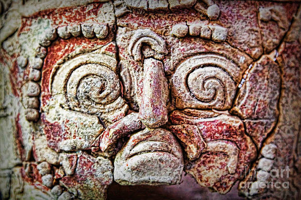 Photograph - Mayan Clay Mask In Flores, Guatemala by Tatiana Travelways