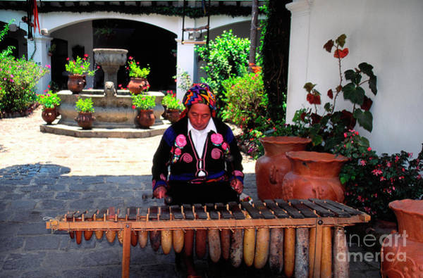 Photograph - Mayan Marimba Player by Thomas R Fletcher