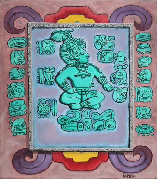 Wall Art - Painting - Mayan Prince by Antonio Romero