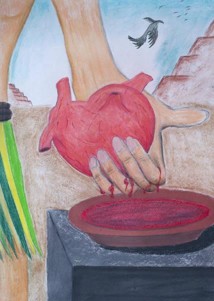 Pastel - Mayan Sacrifice by M Valeriano