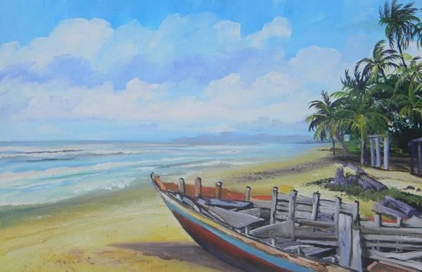 Wall Art - Painting - Mayaro Boat by Samantha Rochard