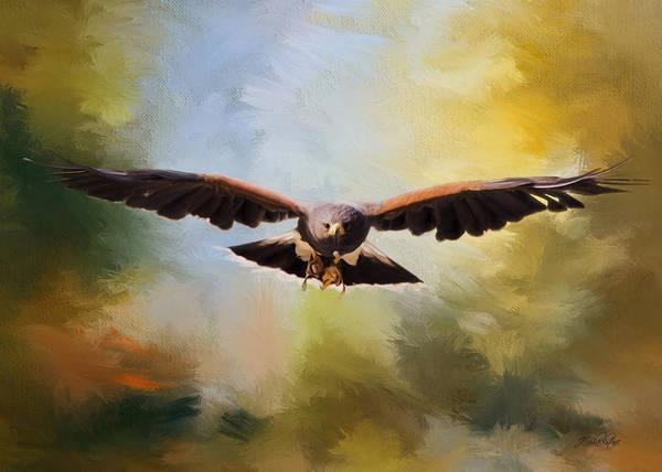 Painting - Maybe - Hawk Art by Jordan Blackstone
