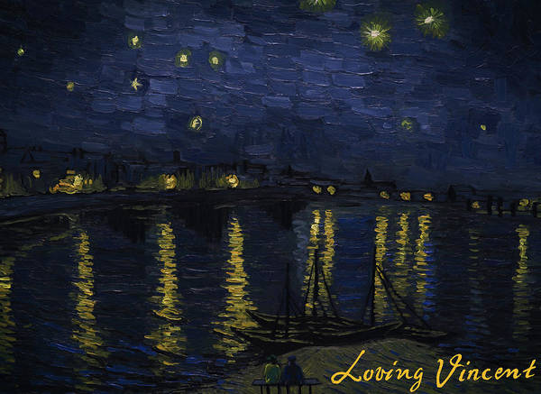 Vincent Wall Art - Painting - Maybe We Can Take Death To Go To A Star? by Bartosz Armusiewicz