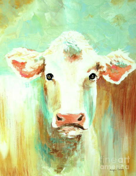 Painting - Maybell The Cow by Tamyra Crossley